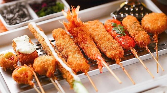 大阪ソウルフードの串揚げを、本場で食べ放題で楽しみましょう!のサムネイル画像